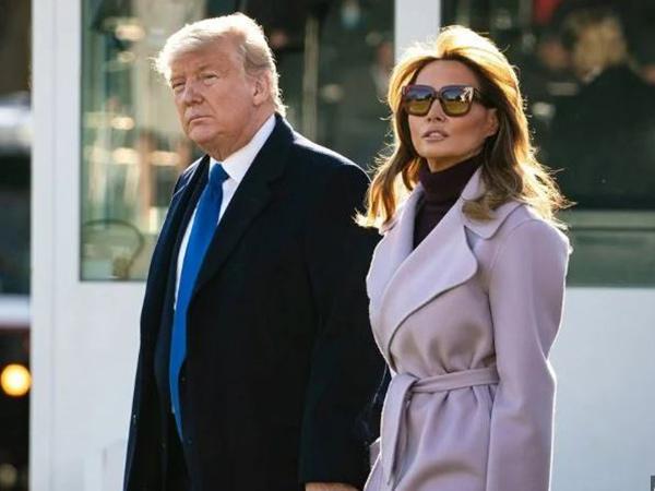 Tersenyum Saat Bersama Donald Trump, Teori Melania Trump Palsu Muncul Lagi