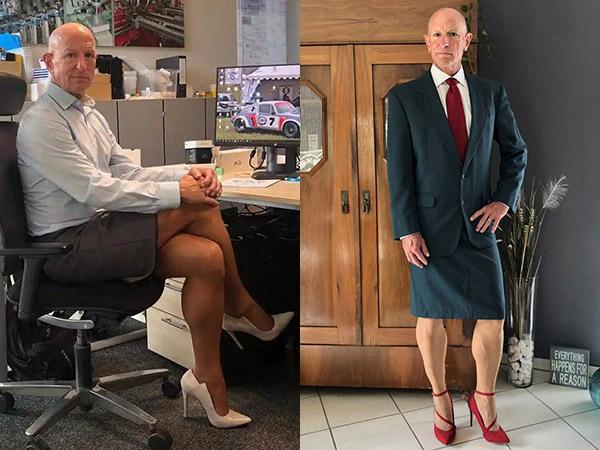 Potret Pria 61 Tahun yang Gemar Memakai Rok Ketat dan High Heels