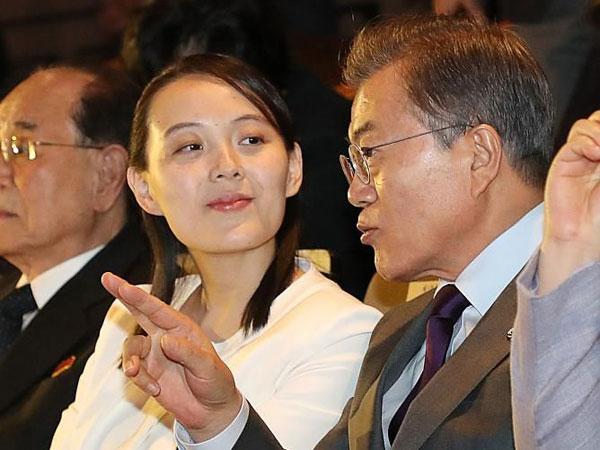 Kemesraan Presiden Korsel dan Adik Pemimpin Korut Diberi Penampilan Kejutan Seohyun SNSD