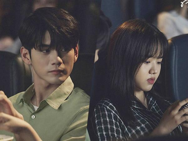 Potret Manis Kencan Pertama Ong Seongwoo dan Kim Hyang Gi di Bioskop