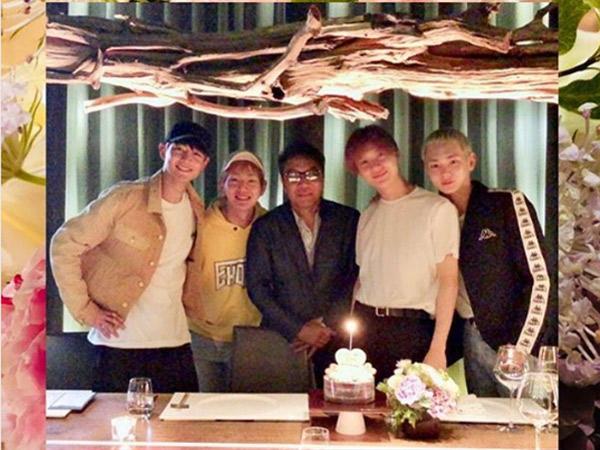 Unggah Foto Rayakan Ultah Debut SHINee ke-10 Bareng Lee Soo Man, Key Justru Bikin Fans Sedih!
