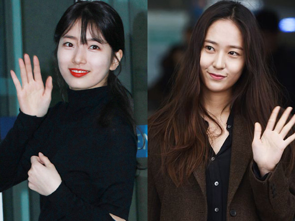 Simple But Gorgeous, Intip Airport Fashion Suzy Miss A dan Krystal f(x) Menuju Milan!