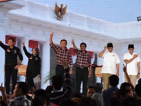 Hasil Quick Count Pilkada DKI Jakarta: Pasangan Ahok dan Anies ke Putaran Kedua, Agus-Sylvi Tereleminasi
