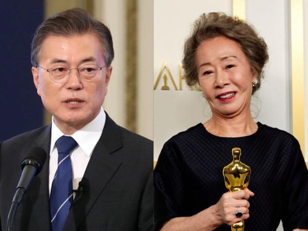 Ucapan Selamat Presiden Moon Jae In untuk Youn Yuh Jung yang Cetak Sejarah Oscar