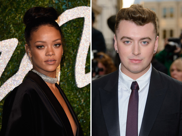 Wah, Rihanna Minta Bantuan Sam Smith di Rekaman Album Barunya?