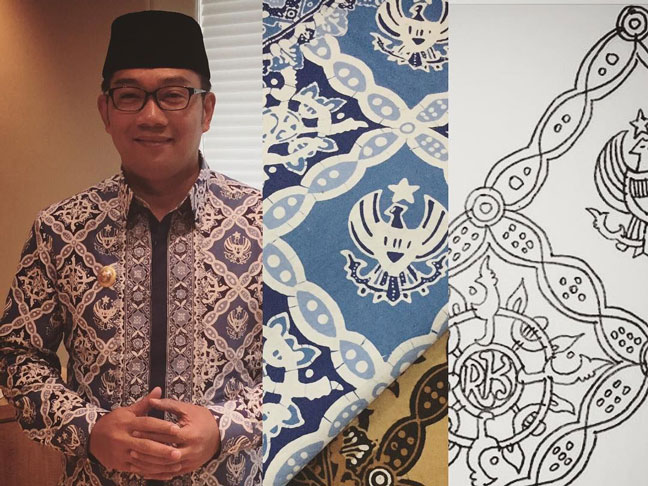 Ridwan Kamil Buat Batik Bernama 'Garuda Kujang Kencana'