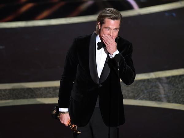 Brad Pitt Kantongi Piala Oscar Pertama sebagai Aktor, Persembahkan Kemenangan untuk Anak-Anak
