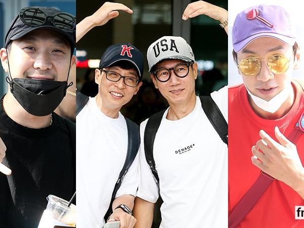 Foto-foto Keberangkatan Member Running Man ke Jakarta, Siap 17an Bareng Fans Indonesia