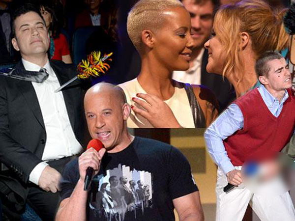 Dari Ciuman Hingga Katniss Everdeen Beraksi, Intip Momen Seru Di MTV Movie Awards 2015!