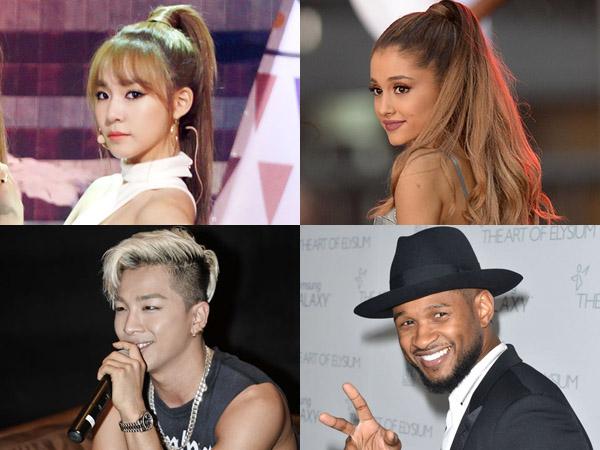Inilah 8 Bintang K-Pop dan Musisi Dunia Sebagai Sandingannya