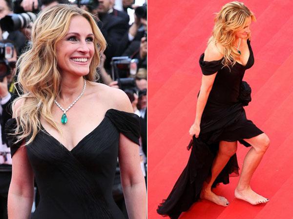 Inikah Alasan Julia Roberts Datang Ke Festival Film Cannes Tanpa Alas Kaki?