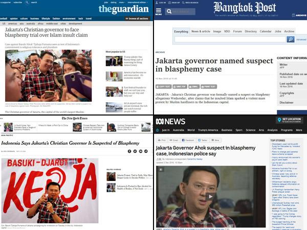 Menyusuri Bukti Kasus Ahok Jadi Sorotan Media Besar Asing Sejak Awal