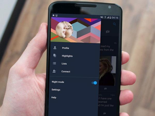 Modus Malam di Twitter Android Bakal Bisa Dipasang Otomatis!