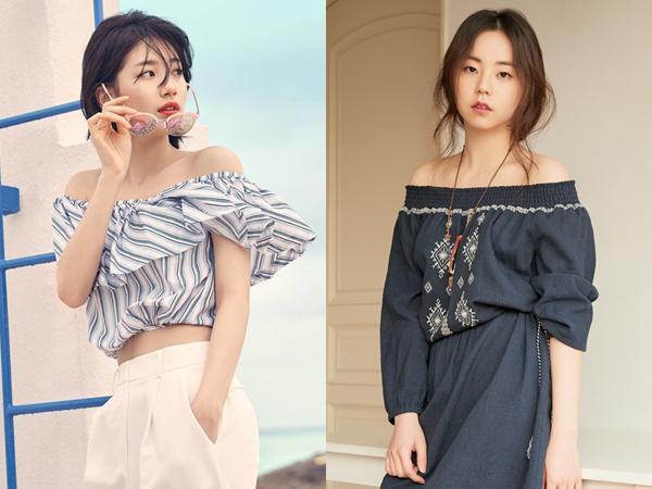 Inspirasi Outfit Liburan Musim Panas Off-Shoulder Blouse Ala Idola K-Pop