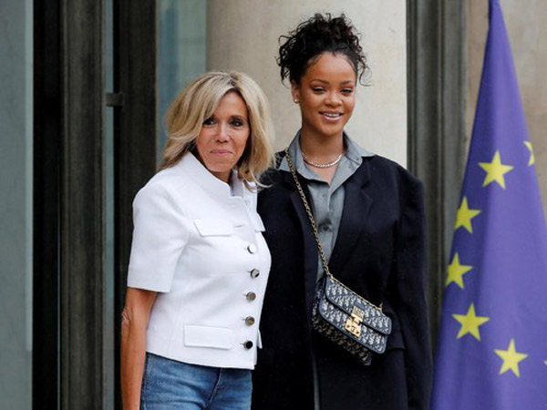 Ini Gaya Rihanna Saat Temui Ibu Negara Perancis, Siapa yang Lebih Modis?