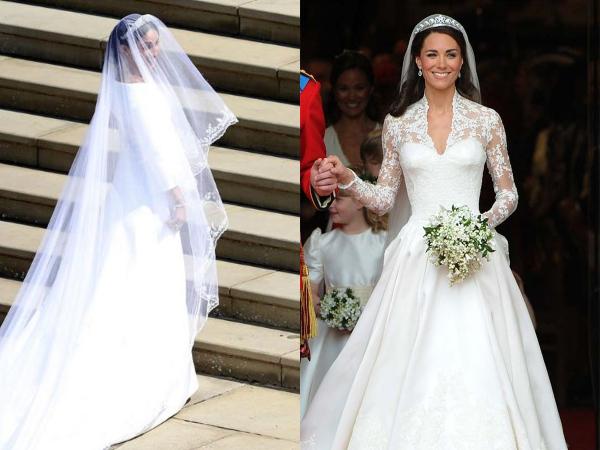 Intip Perbedaan Gaun Pengantin Meghan Markle dan Kate Middleton
