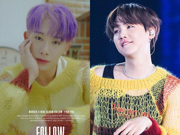 Knitted Sweater Kembar Wonho MONSTA X vs Suga BTS, Who Wore It Better?
