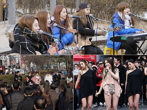 CLC Hingga Minah Girl's Day, 'Ngamen' di Pinggir Jalan Kini Jadi Tren Promosi Para Idola K-Pop?