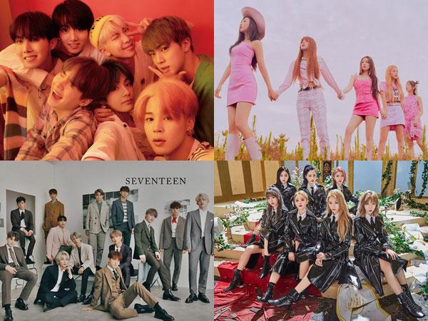 BTS dan Red Velvet Bertahan, SEVENTEEN dan DreamCatcher Debut di Chart Billboard World Album