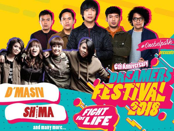 Jangan Lewatkan Dreamers Festival 2018 Dengan 'Second Line Up' 25 Maret Nanti!