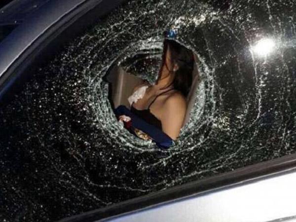Terungkap Pelaku Pelempar Mobil DJ Siska Hingga Pecah dan Terluka Parah