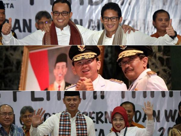 Non Partai Hingga 'Triple A', Ini Sederet Fakta Menarik Pilgub DKI Jakarta 2017