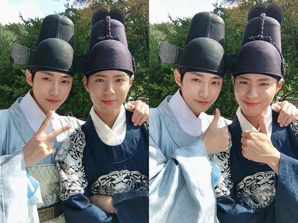 Musuh di Drama, Jinyoung B1A4 Malah Unjuk Kedekatan dengan Park Bo Gum di Balik Layar