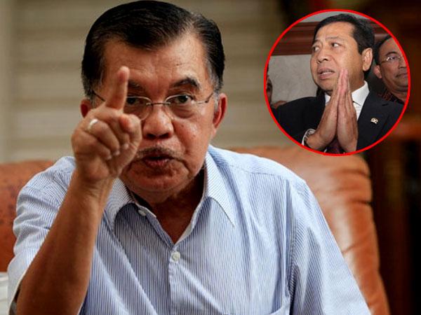 Jusuf Kalla Soal Status Tersangka Setya Novanto: Perbuatan Tercela Pasti Ada Sanksinya