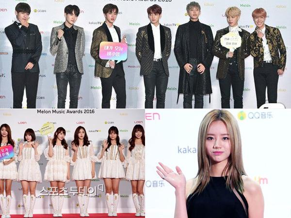Simak Gaya Fashion Para Idola K-Pop di Red Carpet MelOn Music Awards 2016 (Part 1)