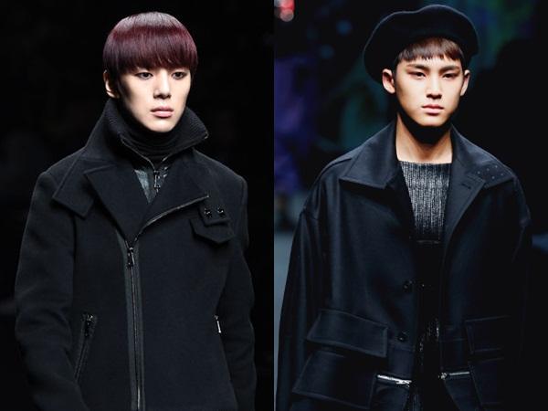 Minhyuk Monsta X & Mingyu Seventeen Eksis di Runaway '2017 F/W Seoul Fashion Week'