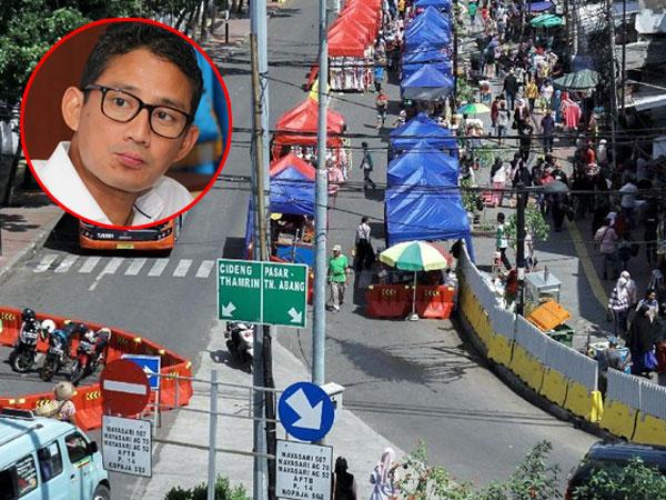 Sandiaga Uno Sebut Kemacetan di Tanah Abang Turun Drastis, Polisi: Kan Kemarin Libur