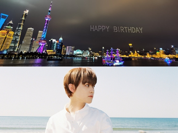 Fans Tiongkok Terbangkan 200 Drone Untuk Rayakan Ulang Tahun Chenle NCT