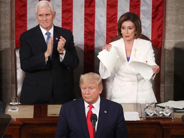 Lihat Lagi Drama Trump-Ketua DPR AS yang Sobek Naskah Pidato Acara Kenegaraan: Itu Hal Paling Sopan!