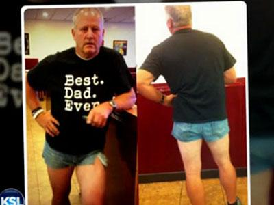 Protes Kepada Putrinya, Ayah Ini Gunakan HotPants