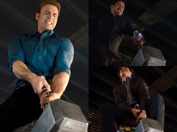 Lucunya Para Super Hero Berlomba Mengangkat Palu Thor Di Trailer 'The Avengers 2'!