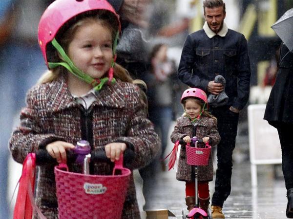 Gemasnya Saat David Beckham dan Si Kecil Harper Terlihat Kencan Berdua
