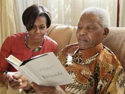 Mandela Sakit, Obama Beri Semangat