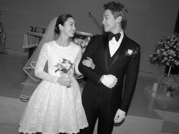 Dirilis, Suasana Khusyuk Penuh Kebahagiaan Tampak di Foto Pernikahan Rain dan Kim Tae Hee