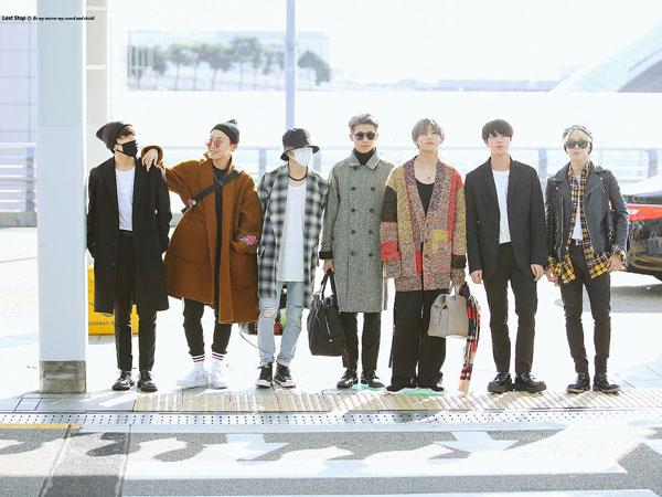 Modisnya Gaya Airport Fashion Musim Gugur BTS Menuju LA