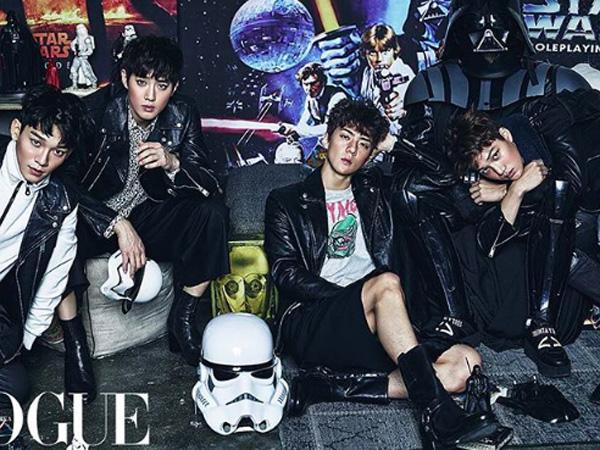 EXO Hiasi Majalah Vogue Edisi Desember dengan Tema 'Star Wars'!