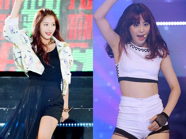 Duh, Jihyun 4Minute dan Youngji KARA Jatuh Terpeleset di Panggung 'Hallyu Dream Festival'