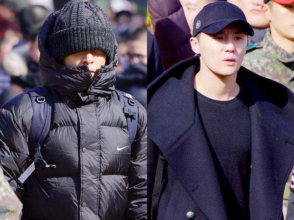 Serba Hitam, Gagahnya T.O.P Big Bang dan Junsu JYJ di Upacara Wamil!