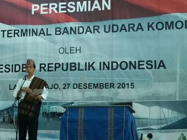Kunjungan Kerja Ke NTT, Jokowi Resmikan Terminal Bandar Udara Ratusan Milyar