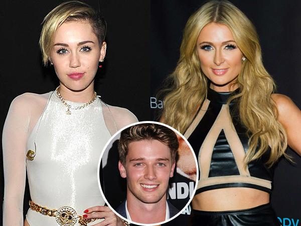 Miley Cyrus Cium Paris Hilton di Depan Patrick Schwarzenegger?