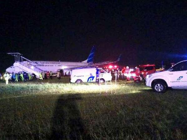 Evakuasi Pesawat Garuda Indonesia yang Tergelincir di Yogya Gunakan Peralatan Khusus dari Jakarta