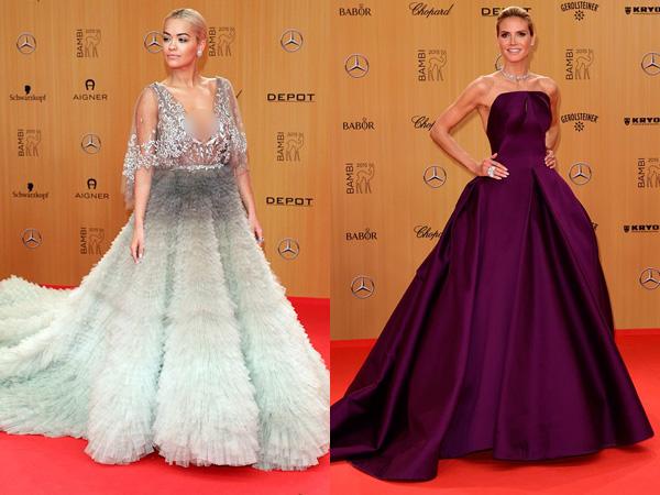 'Cinderella Moment' Rita Ora vs Heidi Klum di Bambi Awards, Siapa Paling Mempesona?