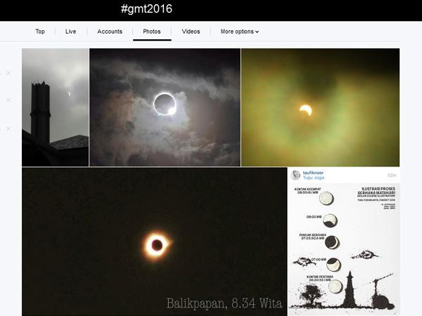 Rayakan Gerhana Matahari Total di Medsos, Tagar #GMT2016 Jadi Trending Topic Dunia