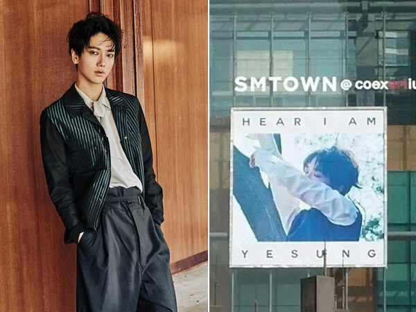 Promosikan Debut Solo Yesung, SM Entertainment Pajang Poster Typo