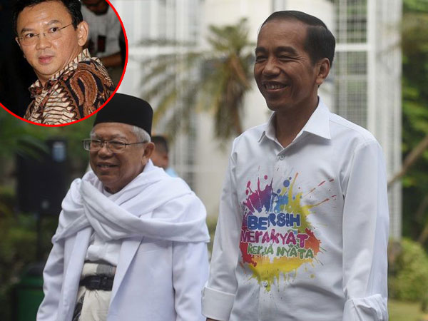 Pernah Seteru 'Panas' di Sidang Penistaan Agama, Ahok Akan Dukung Ma'ruf Amin Selepas dari Penjara?