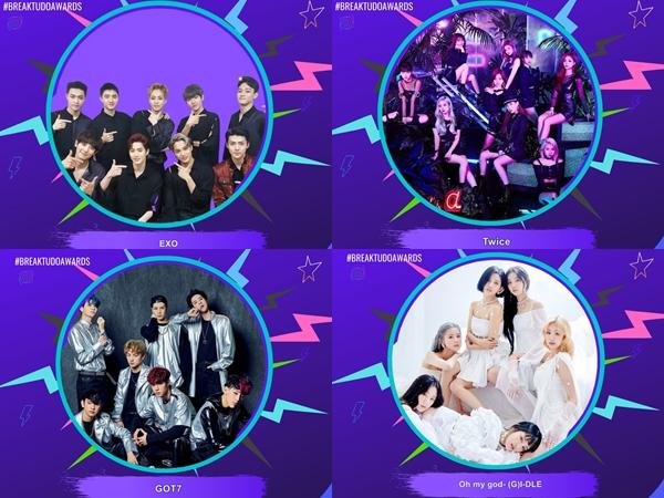 GOT7 dan (G)I-DLE Perdana, Inilah Idola K-Pop Pemenang BreakTudo Awards 2020